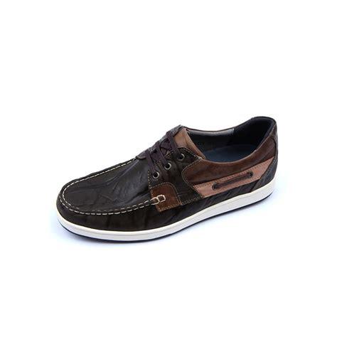 mens khaki leather non slip rubber sole sports fashion