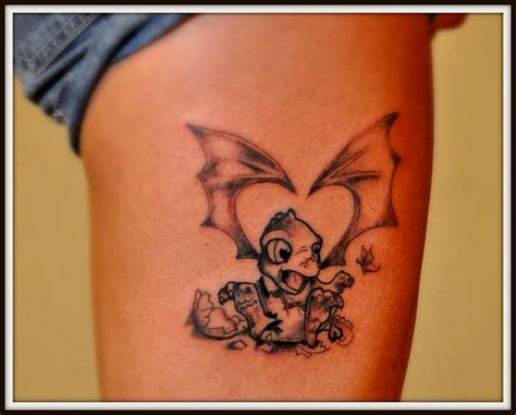 baby dragon first pass needs color tattoo guy flickr