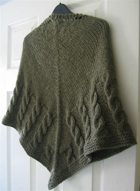 cable knit shawl half cable shawl pdf knitting pattern cables aran yarn