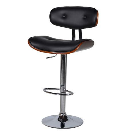 Black Swivel Stool black walnut swivel bar stool