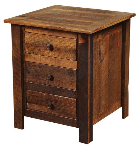Nightstand Legs by Barnwood Three Drawer Nightstand With Barnwood Legs From