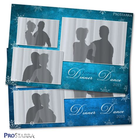 photo booth screen layout canvas of snowflakes 4 215 6 inch photo booth template