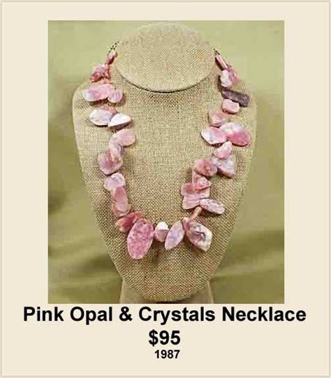 pink opal necklace handcrafted    creations