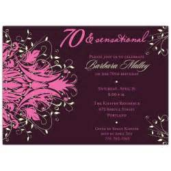 andromeda pink 70th birthday invitations paperstyle