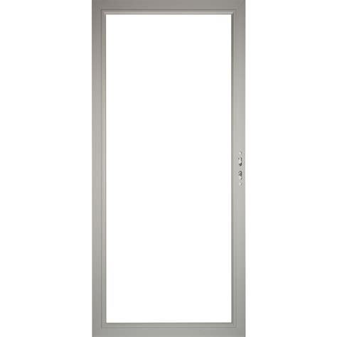 Framing A 36 Inch Door by Shop Pella Select Aluminum 36 In X 81 In Morning Sky Gray