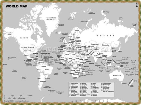 world map with cities printable world map with countries and cities