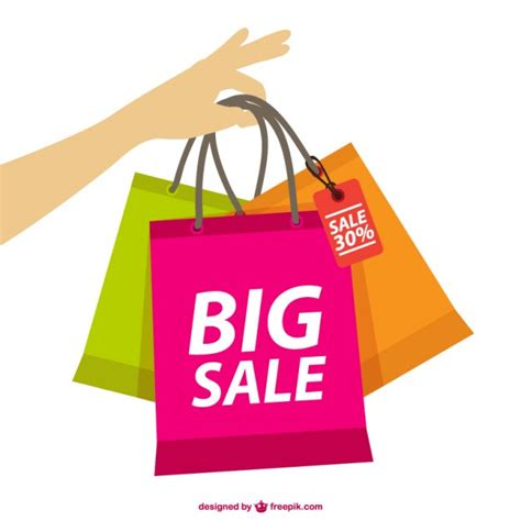 bid or buy shopping holding shopping bags vector free