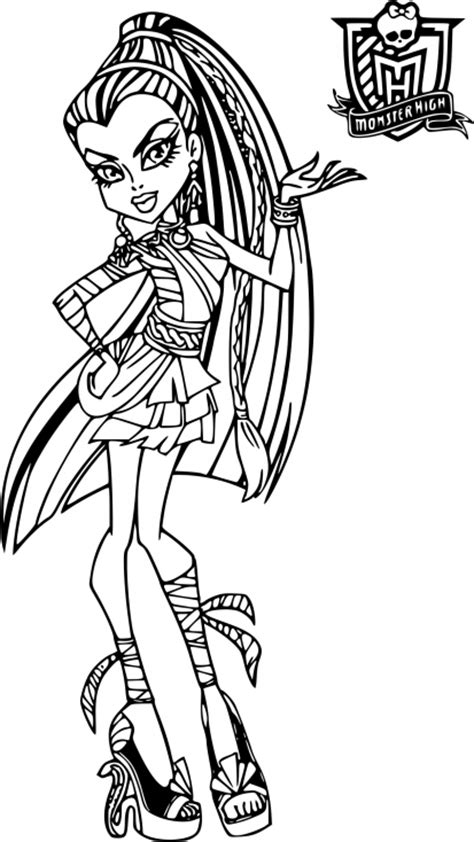 coloriage monster high catty noir coloriages 224 coloriage monster high nefera 224 imprimer
