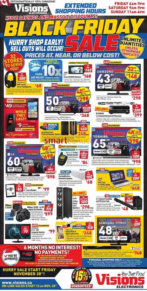 visions electronics black friday  flyer