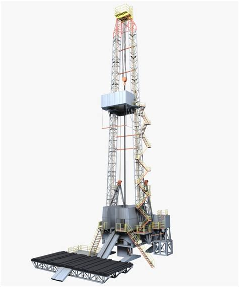 drilling rig image land rig site 1 3d animation oil 3d model oil rig 1145754 turbosquid