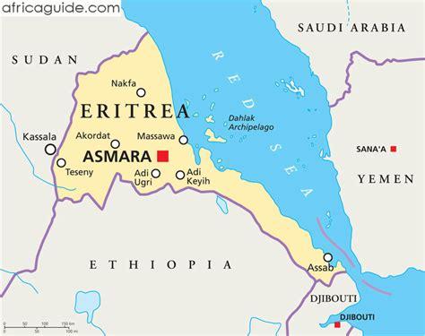 eritrea map eritrea karte