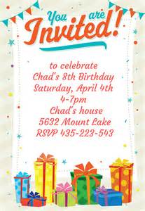 Birthday Card Invitations Templates Free by 10 Invitation Templates Freecreatives