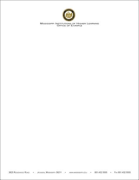 Georgian College Letterhead Mississippi Universities Advancing Our State Together