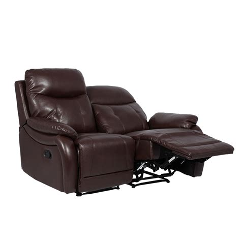 Two Seater Leather Recliner by Leather Recliner Sofa 2 Seater Eros Brown Price