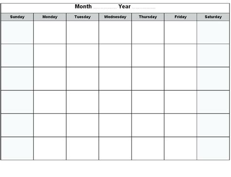 Write In Calendar Template 2016 Printable Blank Monthly Activity Shelter Download On Write In Calendar Template