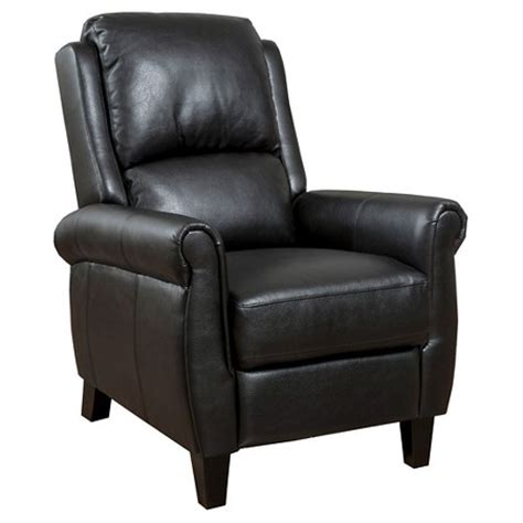 christopher knight home leather recliner club chair haddan pu leather recliner club chair black