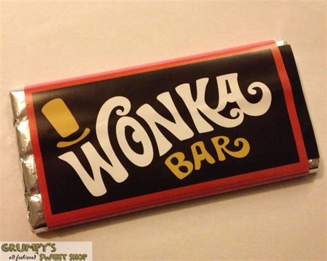 Chocolate Wonka M grumpy s sweet shop wonka chocolate bars