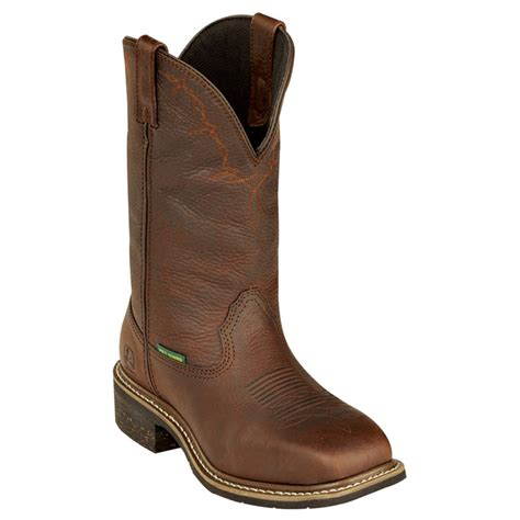 steel toe boots with metatarsal guard deere 174 12 quot work western steel toe metatarsal guard