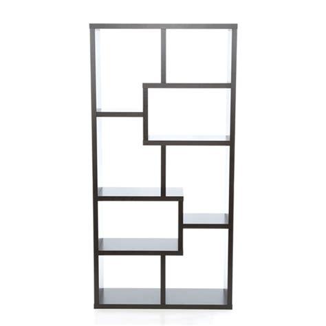 modern black bookcase display c 800340 modern 70 75 inch high display cabinet bookcase in black