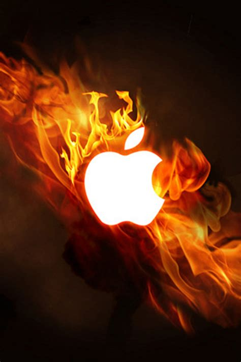 wallpaper iphone fire wallpaper for iphone apple fire apple lightning fire
