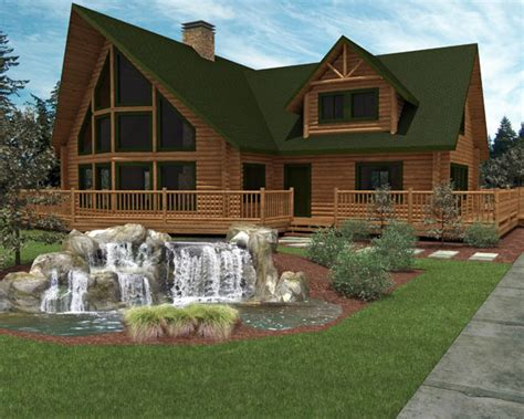 Luxury Log Home Plans Pics Photos Foxpoint Luxury Log Home Design