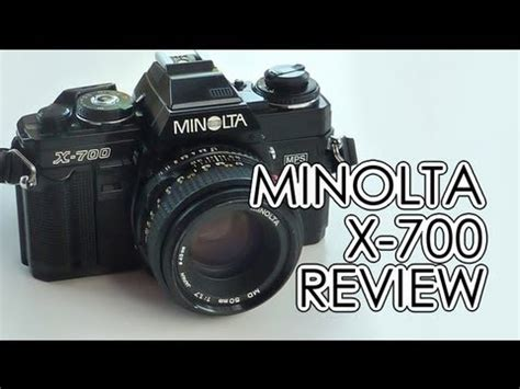 minolta x 700 35mm camera review youtube