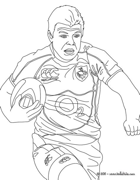 Rugby League Colouring Pages Brian Driscoll Rugby Player Coloring Pages Hellokids Com by Rugby League Colouring Pages