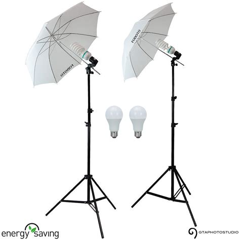 starter lighting kit photography 400w photo video continuous umbrella starter lighting kit