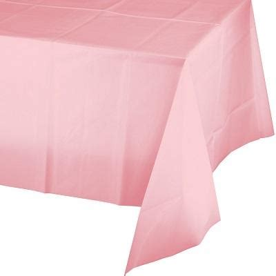pale pink table cover ruby rabbit partyware
