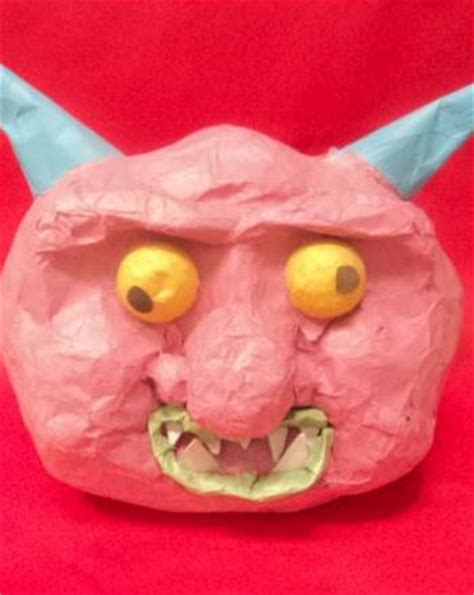 Paper Mache Crafts For Preschoolers - paper mache gargoyle activity education