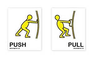 Push And Pull Signs For Glass Doors Push Pull 174 Push And Pull Signs Stickers Pictures Words Yellow Black Sided