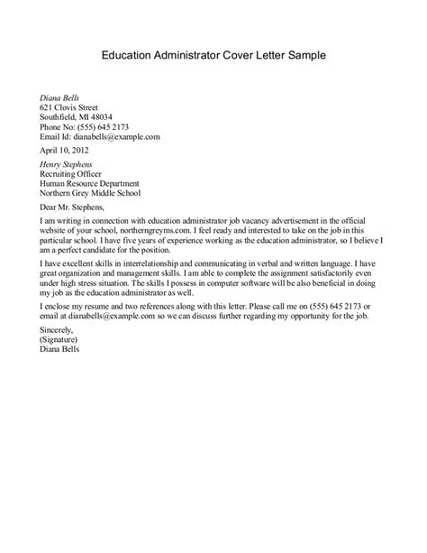writing a cover letter for a teaching free sle cover letter for resume education
