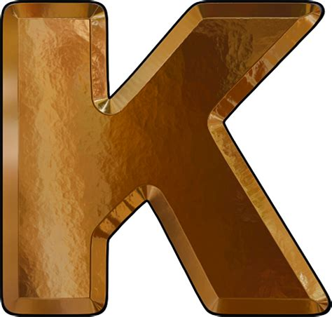 College With Letter K Presentation Alphabets Gold Leaf Letter K