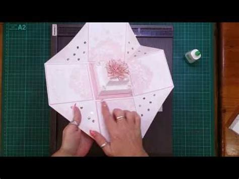 explosion box tutorial youtube cake tutorial for wedding exploding box card youtube
