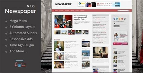 templates blogger newspaper newspaper responsive blogger template by templateszoo