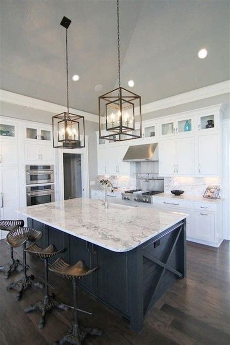 lighting above kitchen island white kitchen island with stainless steel top foter