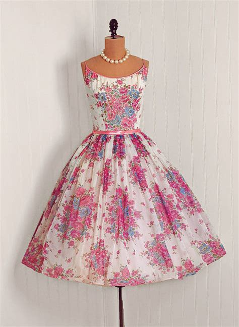 pretty fashion dress beautiful vintage 1950s 50s 50 s 1950