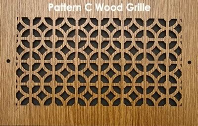 wood covers & grilles pattern c | patterncut.com