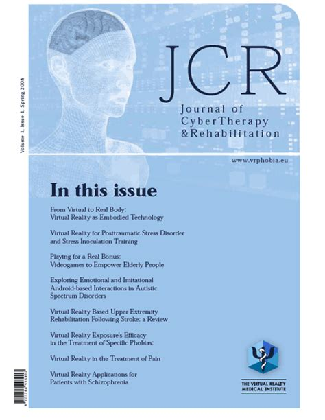 therapy journal at jcr our areas of interest include but are not