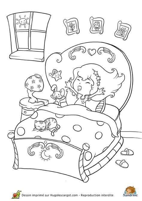coloriage chambre coloriage princesse chambre sur hugolescargot com