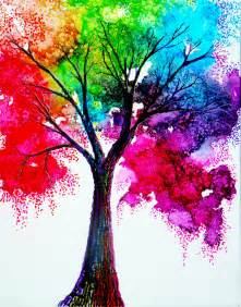 cool colorful drawings rainbow tree by annmariebone on deviantart