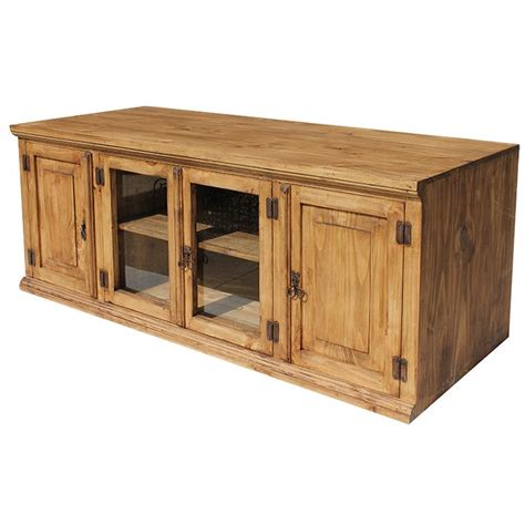 rustic tv stand rustic pine collection large santa tv stand com360