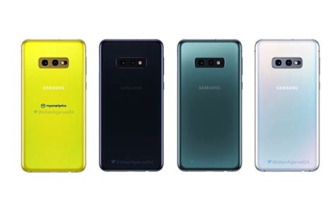 samsung galaxy s10 colors illustrated before launch android community