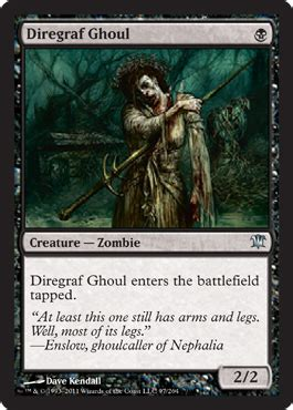 the of magic the gathering innistrad magic the gathering spoiler innistrad diregraf ghoul