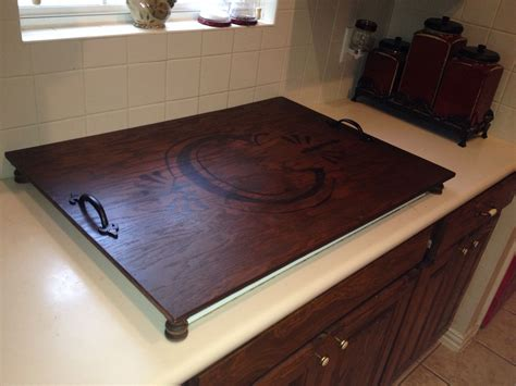 cooktop covers cooktop cover plywood spindles stain and inspiration