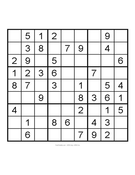 5 best images of easy sudoku printables easy