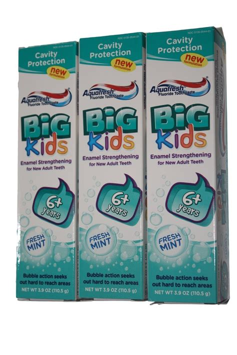 Pindy Mint Pack Of 3 aquafresh big fresh mint toothpaste 3 pack 3 9oz each toothpaste