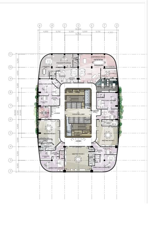 plan the approximate layout of the building design 8 proposed corporate office building high rise