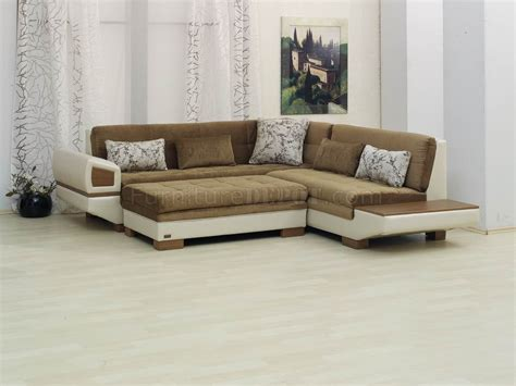 Vinyl Sectional by Two Tone Fabric Vinyl Modern Sectional Sofa W Optional