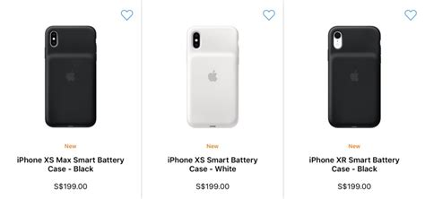 apple releases new smart battery cases for iphone xr xs and xs max hardwarezone sg